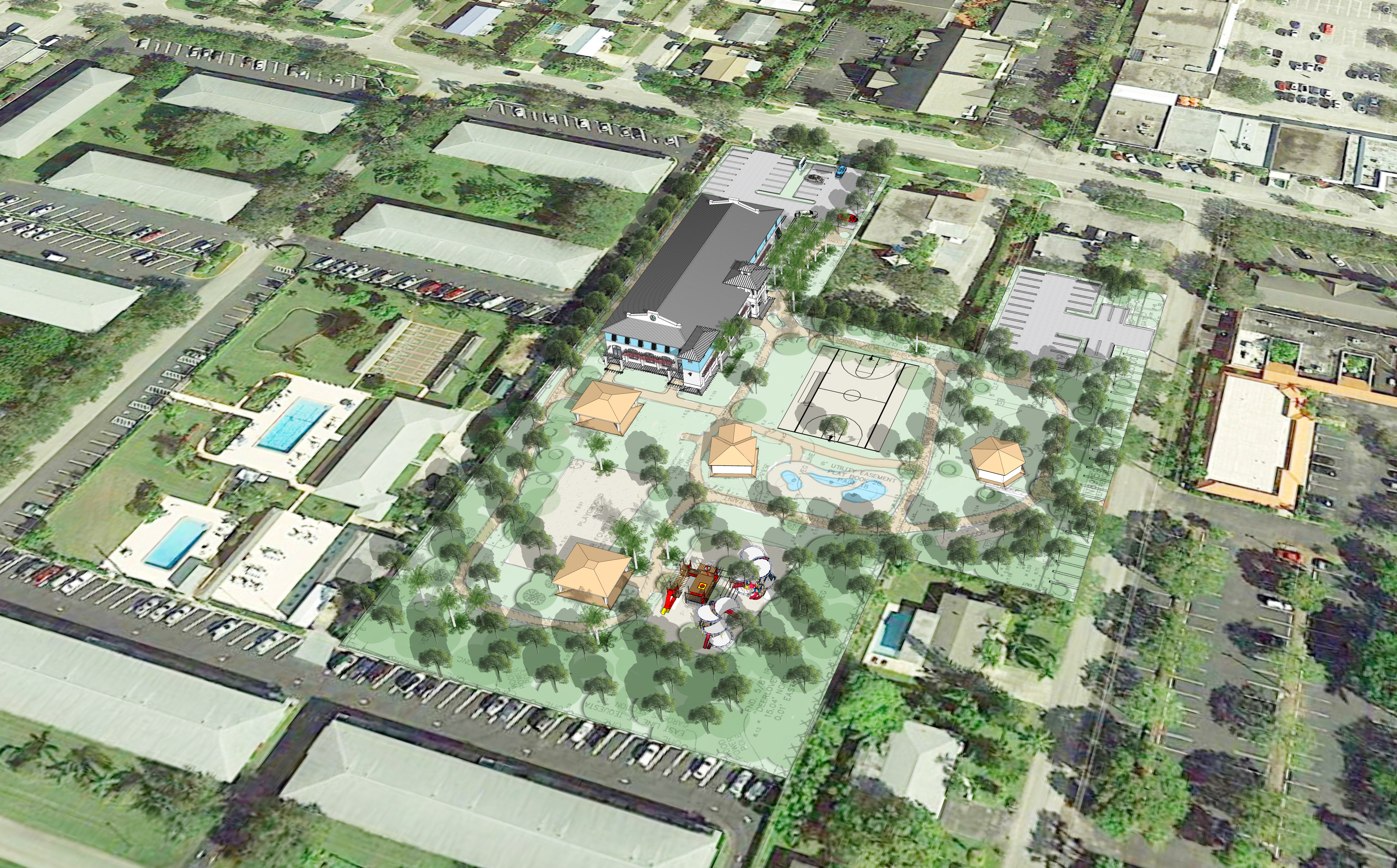 Aerial of Proposed Recreation/Community Center