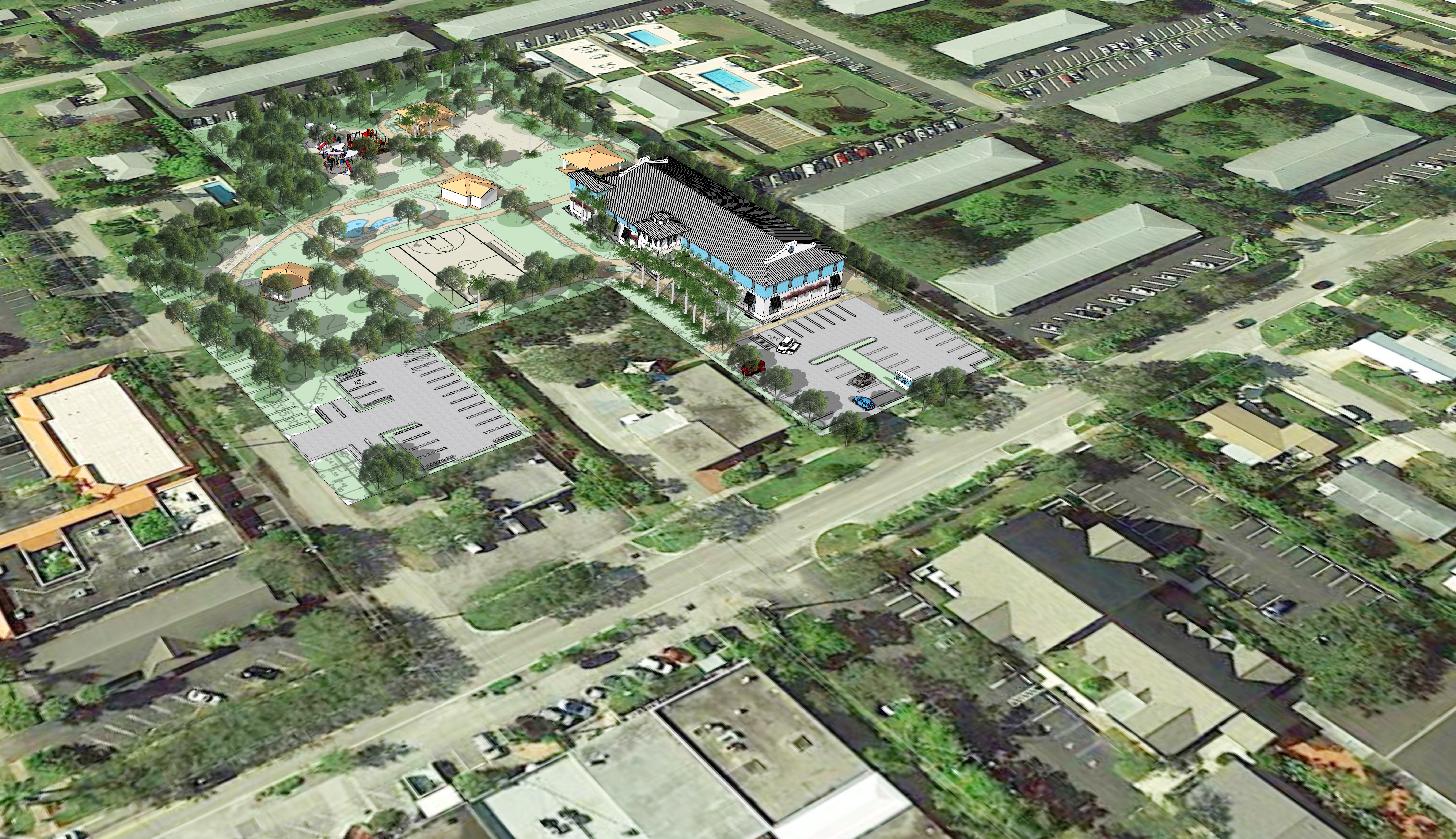 Aerial of Proposed Recreation/Community Center 2