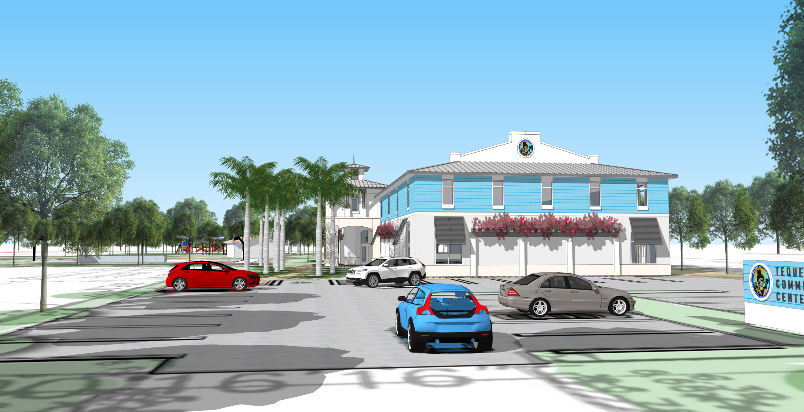 Street View of Proposed Recreation/Community Center
