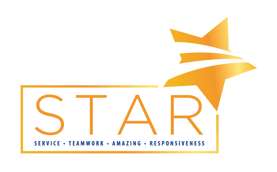 STAR means Service, Teamwork, Amazing and Responsiveness