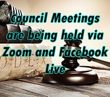 Council Meetings being held via Zoom and Facebook Live