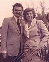 Alice Klimas and Burt Reynolds